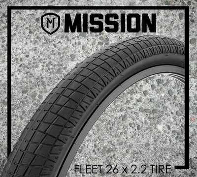 "[Spun Shop] Mission BMX Fleet 26"" x 2.2"" Tire 街道外胎"
