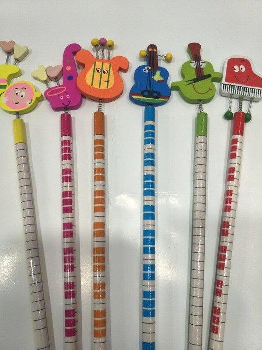 ╰☆美弦樂器☆╯樂器造型鉛筆組 (一組6支)