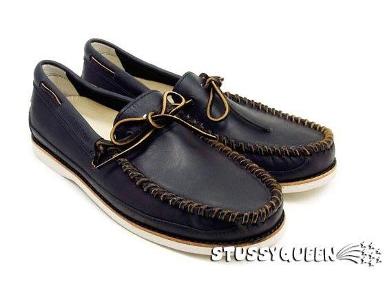 【 超搶手 】現貨 春夏新款 Timberland Abington Moccasin 帆船鞋 皮革編織  黑色11.5