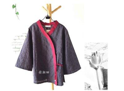 【荷湘田】秋裝--和風V領綁帶七分袖整...