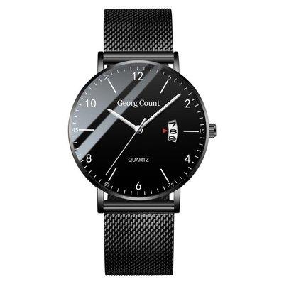 全館88折 流行男錶-新款概念超薄手錶...