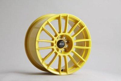 日本 SPOON 鋁圈 CR93 17吋 7J 5/114.3 ET45 黃色
