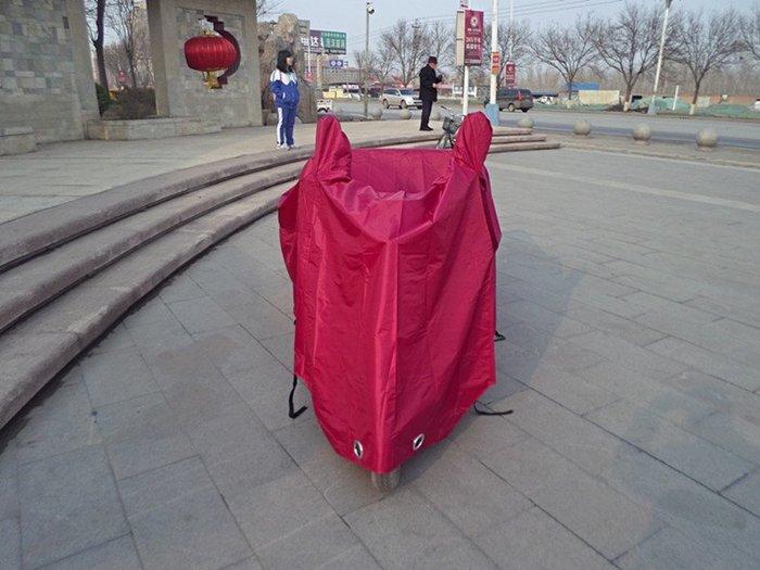 @心悅精品 汽車夏季新款車衣加大電動三輪車老年代步車電瓶車車衣車罩車套雨披遮陽防雨罩加厚