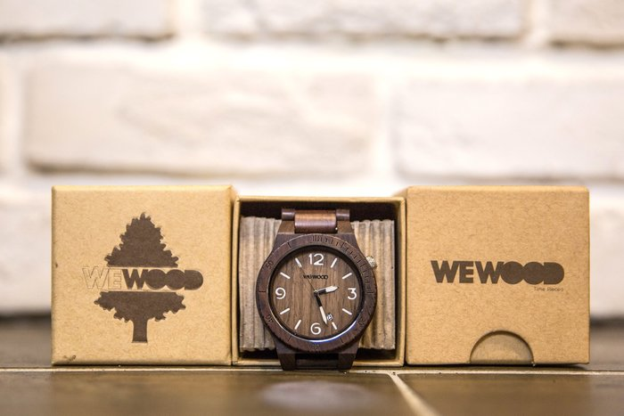【紐約范特西】現貨 義大利 We Wood WEWOOD ALPHA CHOCOLATE 木頭錶 巧克力 大圓錶 有日期 Q版數字