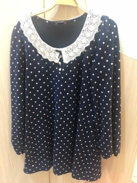 小花別針、專櫃品牌【ingni】點點連身裙洋裝