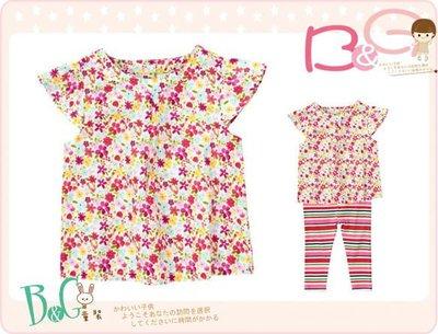 【B& G童裝】正品美國進口Crazy8 Floral Flutter Top 小碎花圖樣短袖上衣18-24mos,2,3yrs