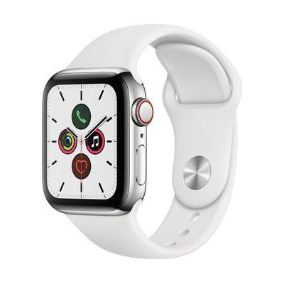 Apple Watch SERIES 5 LTE 40mm 不鏽鋼錶殼 白色運動型錶帶  MWX42TA/A
