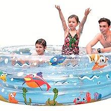 【Treewalker露遊】090067三層海洋彩繪泳池170cm三層大型 seaworld 親子大型圓型遊戲池 游泳池