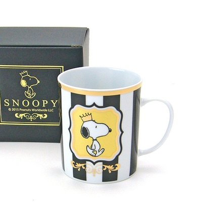 尼德斯Nydus~* 日本正版 Snoopy 史努比 經典款 杯子 馬克杯 350ml 高約9cm -日本製