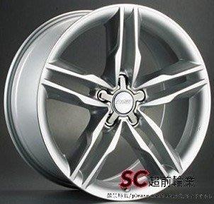 【超前輪業】編號(259) 類S5 19吋鋁圈 5孔112 高亮銀 福斯 奧迪 專用 完工價 7300 A4 A5 VW
