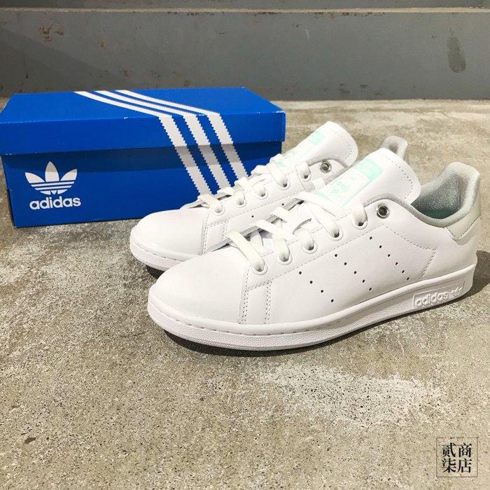 (貳柒商店) adidas Originals Stan Smith 女款 白色 白綠 銀 休閒鞋 史密斯 G27907