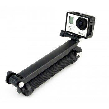 可拆式及防水 GoPro 三向多功能 手持桿 攝影機手握把、 三腳架、 旋轉臂 真旺 專業攝影 副廠