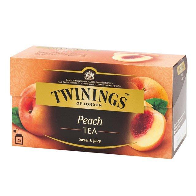 TWININGS 唐寧香甜蜜桃茶包 2g*25入/盒-【良鎂咖啡精品館】