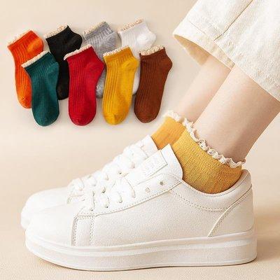 5雙裝花邊襪子女士短襪棉日系淺口春夏季可愛公主薄款韓版低幫潮