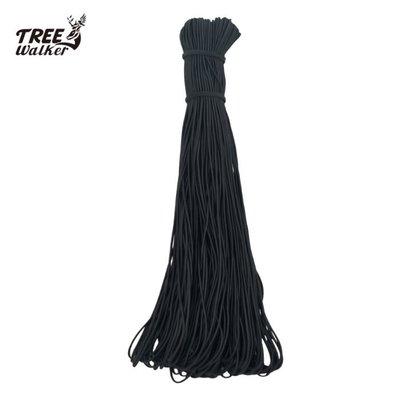 【TreeWalker 露遊】146006-5-1 彈性繩 帳篷骨架用(黑色) 0.3cm直徑彈性 營繩