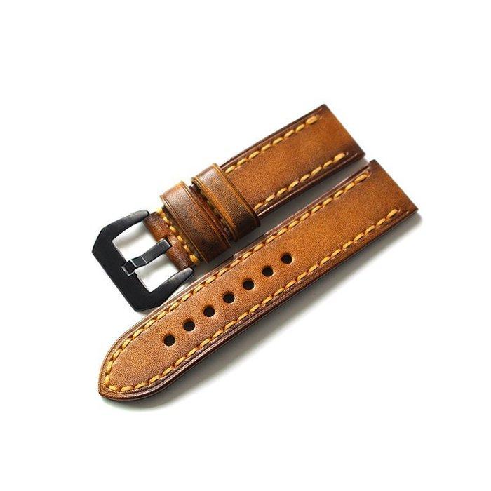 錶帶替換 錶帶 手錶配件 小擦色 復古男款 表帶  20MM  24MM  柔軟牛皮胖大海表帶手錶配件 錶帶 男女錶帶
