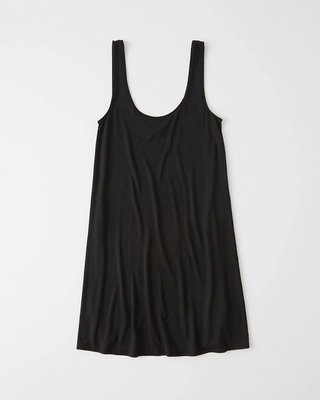 Maple麋鹿小舖 Abercrombie&Fitch * AF 黑色無袖休閒洋裝 * ( 現貨S-P號 )