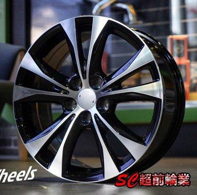 【超前輪業】EP50803 全新 18吋鋁圈 5孔114.3 7.5J ET40 黑底車面 NX200 NX300 專用