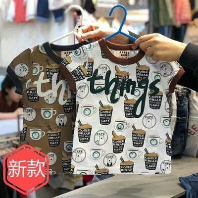 ♥【BC5119】韓版男童裝飲料英文短袖T恤 2色 (現貨) ♥