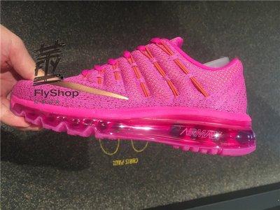 [飛董] Nike Air Max 2016 GS 大童鞋 全氣墊 慢跑鞋 807237-601 桃紅 金 401 藍