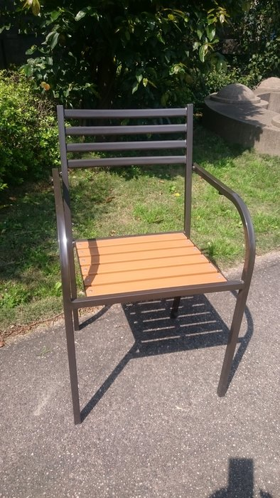 [兄弟牌戶外休閒傢俱] 塑木椅單張~7-11椅款~餐飲營業或自用陽台公園,堅固耐久用好維持。