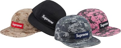(TORRENT) 2017 秋冬 Supreme NYCO Twill Camp Cap 粉 沙漠