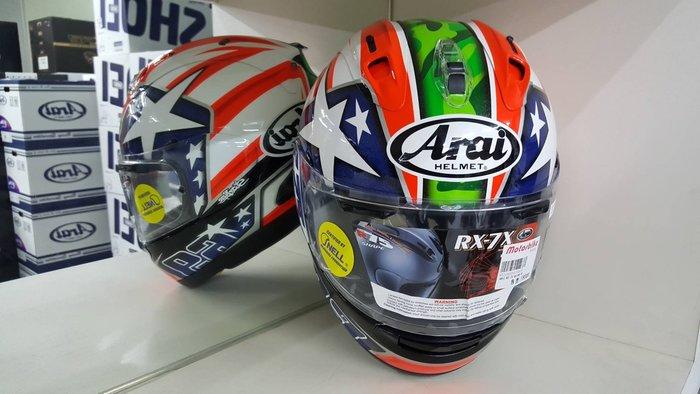 ARAI RX-7X HAYDEN 全罩式安全帽 售價:18000元 網路價:17500元 贈台製頭套*1