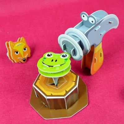 佳廷家庭 親子DIY紙模型立體勞作3D立體拼圖專賣店 小小實習店長 袋裝工程師1-鐵鎚鐵釘組 邦維