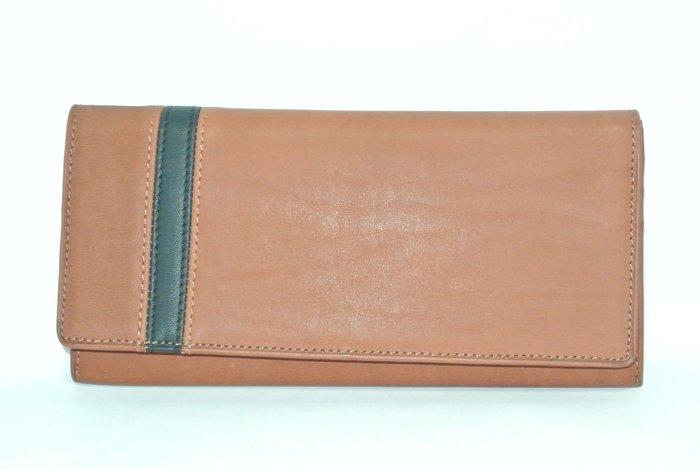 貳拾肆棒球時尚-日本帶回限定訂製品Mizuno 商務用長皮夾/手套皮革素材