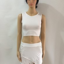 White Sexy Bandage Women Crop Top Set Hot Short Skirt Set