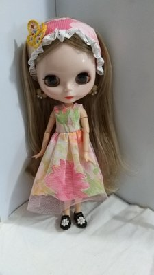 29cm Blythe doll outfit dress with hair accessory