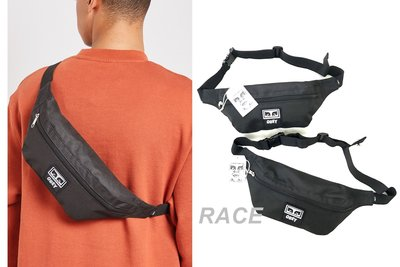 【RACE】OBEY PATCHED DAILY SLING 腰包 小包 側背包 單肩包 LOGO 經典 黑