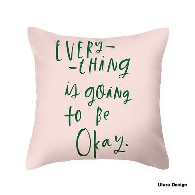 歐美風格 Pink 抱枕 枕套/枕芯 Uluru Design 客廳 臥室 Loft 工業風 鄉村風 居家裝飾 飾品