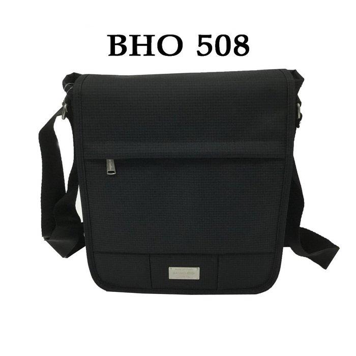 【菲歐娜】7759-(特價拍品)BAIHO防潑水布直立式多功能斜背包(黑) BHO508
