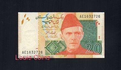 【Louis Coins】B132-PAKISTAN--2008巴基斯坦紙幣20 Rupees