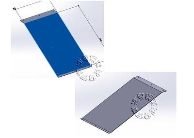 速發~樓梯專用斜坡板爬坡花紋鍍鋅板~止滑板~台階~走道斜板~不鏽鋼白鐵~輪椅電動車~平台腳踏板~水溝蓋~無障礙通道