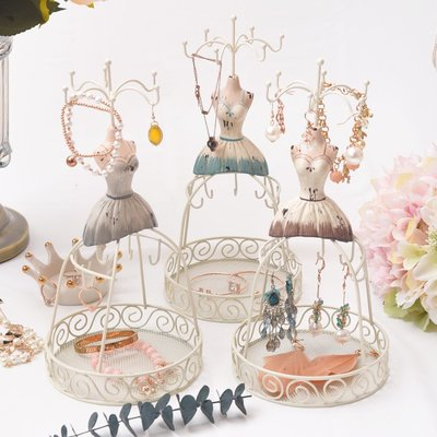 首飾架復古首飾架歐式項錬架耳環展示架飾品架擺件鐵籠娃娃道具    全館免運