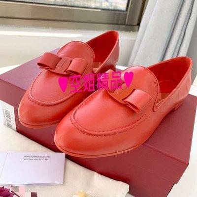 ♥空姐精品♥春夏最新 S*F 款 甜美蝴蝶結羊皮低跟包鞋 平底鞋 菲拉風格 二色