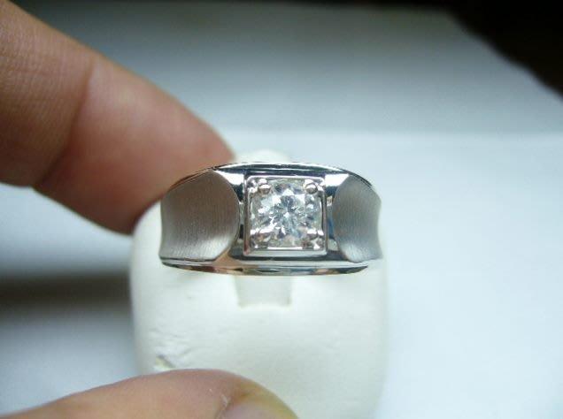 [吉宏精品交流中心]36分 南非天然鑽石 白K金 戒指(男戒)
