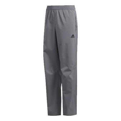 [小鷹小舖] Adidas PROVISIONAL RAIN PANTS 阿迪達斯 高爾夫 青少年 長褲 柔軟有彈性面料