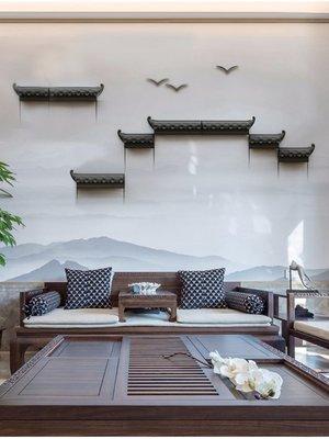 雅典生活館~創意新中式墻壁裝飾掛件玄關墻面裝飾品背景墻上壁飾徽派壁掛立體
