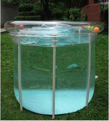最新款泳池80*78全透明 可升降16支架 折疊式 大人成人小孩充氣浴缸澡盆嬰兒游泳池 泡澡桶.大水桶 水塔 蓄水池