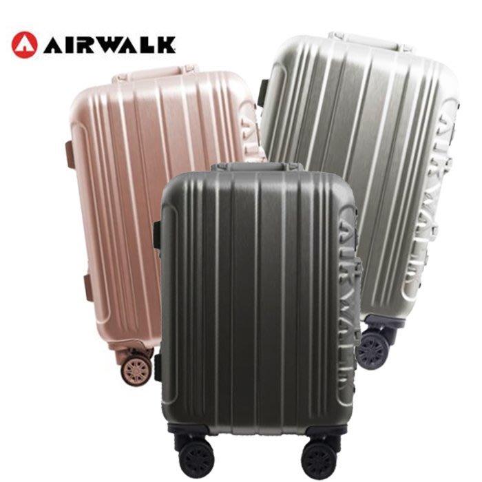 【AIRWALK LUGGAGE】金屬森林 鋁框行李箱 28吋ABS+PC鋁框箱(玫瑰金/ 碳鑽灰/銀雪白)