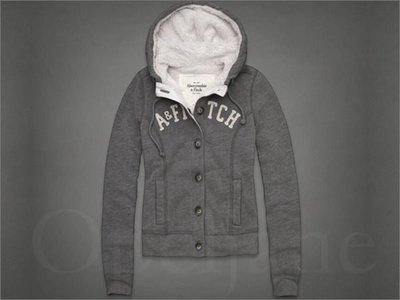 AF Abercrombie & Fitch A&F 麋鹿 排釦鋪棉 鋪毛 帽T連身外套XS號 免運費 愛Coach包包