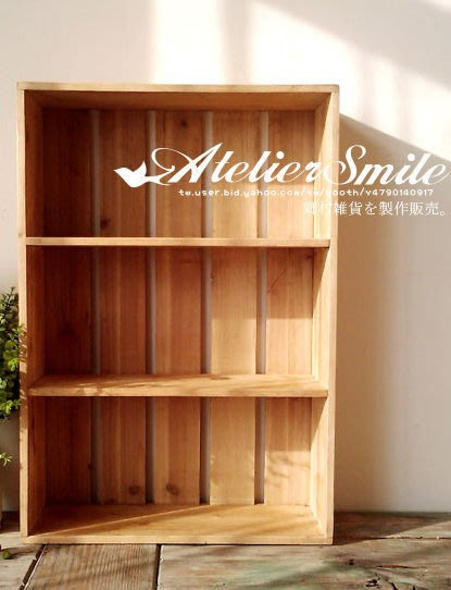 [ Atelier Smile ] 鄉村雜貨 復古三層桌面收納櫃 書櫃 展示架 三色選 (特價)