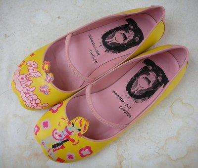 jacob00765100 ~  英國品牌 IRREGULAR CHOICE 俏麗 真皮平底鞋 size: 37