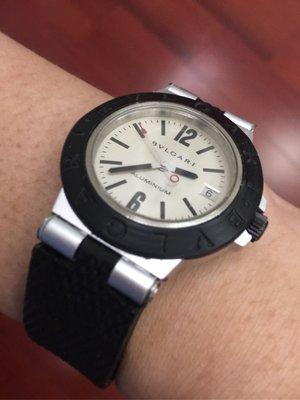 超極輕量 BVLGARI 寶格麗 Diagono Aluminium AL38TA 自動上鍊機械錶
