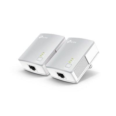 【鴻霖-網路電力通】TP-LINK AV600 微型電力線網路橋接器 (雙包) ( TL-PA4010KIT 3.0 )