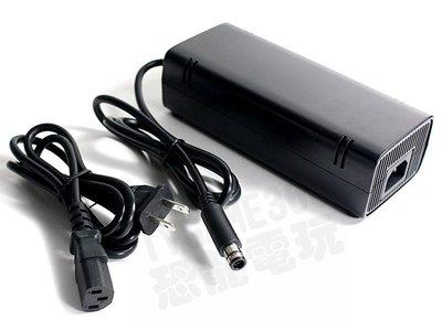 (二手商品)XBOX360E 原廠變壓器 電源供應器 電源線 110V 150W 【台中恐龍電玩】