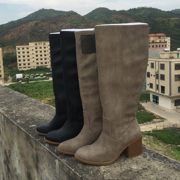 香港OUTLET代購 歐美F21風格長靴保暖 大靴圍適合粗腿美眉 修腿顯瘦 高跟鞋女靴 高筒靴女鞋機車靴馬丁靴美國單